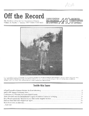 Off the Record issue cover